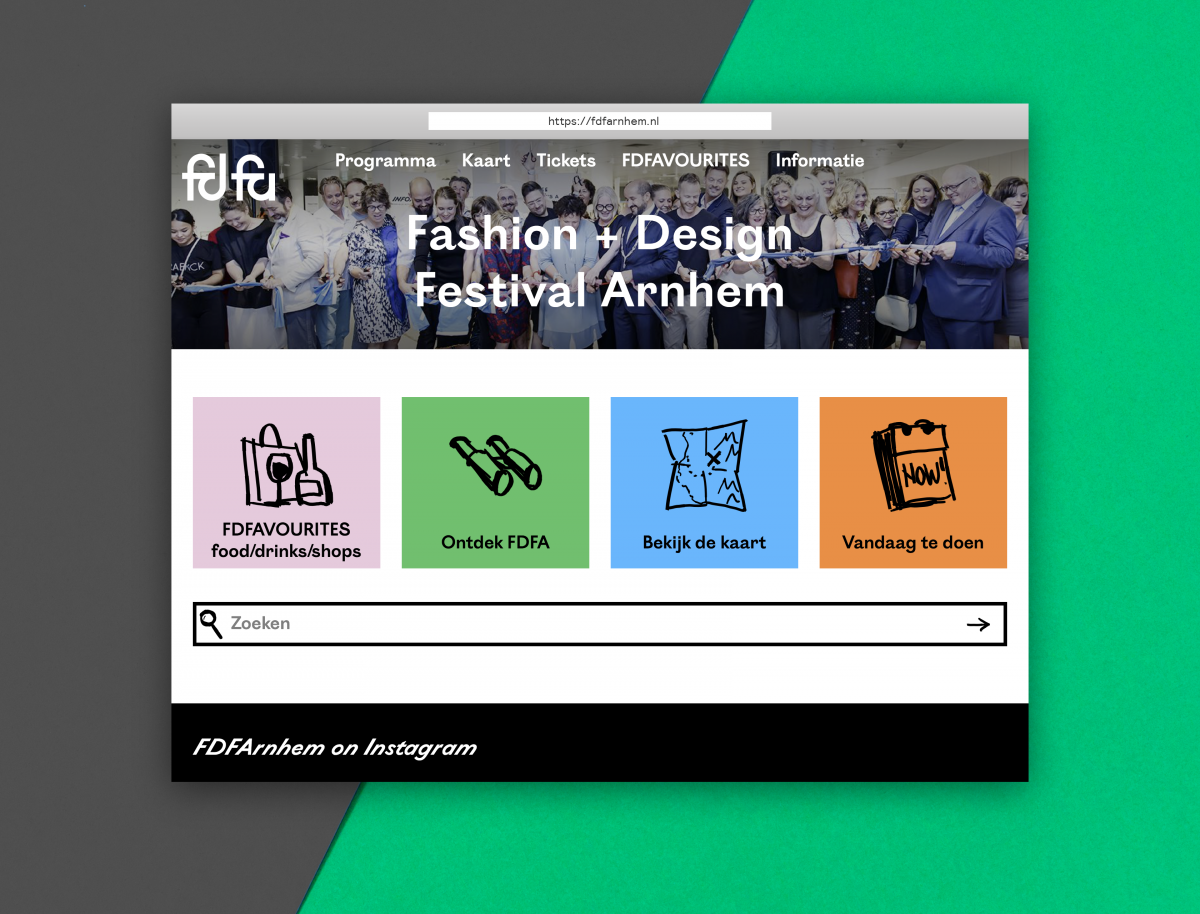 Online Presence For Fashion Design Festival Fdfa Sssssst Multidisciplinary Design Firm Arnhem The Netherlands
